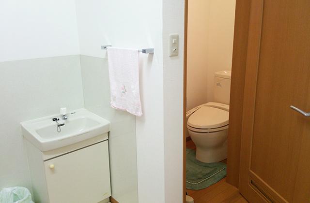 洗面台、トイレ付き